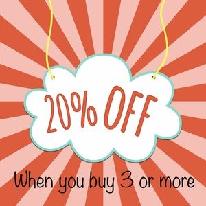 20% deal for you with bundle of 3 or more!!